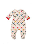 Rainbow Moose Print Organic Cotton Babygrow
