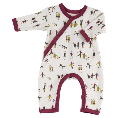 Organic Cotton Ice Skating Print Romper