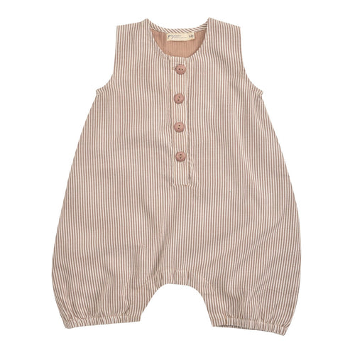 Taupe All-in-One in Organic Cotton Seersucker