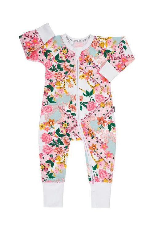 BONDS Floral White Wondersuit