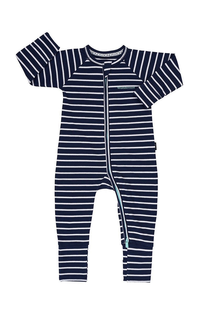 BONDS Black Sea and White Stripe Wondersuit