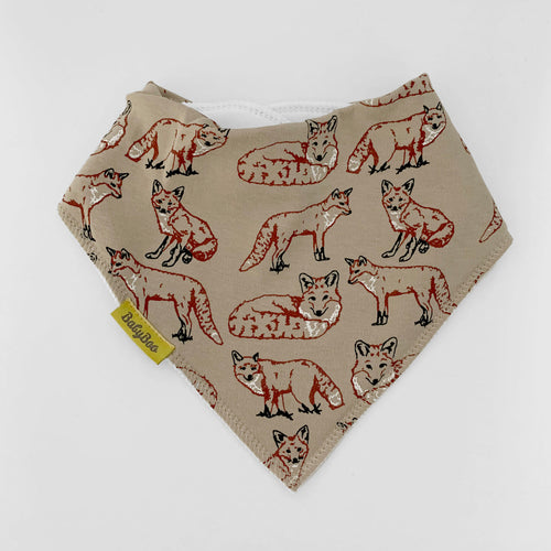FOX ORGANIC COTTON DRIBBLEBOO BANDANA BIB