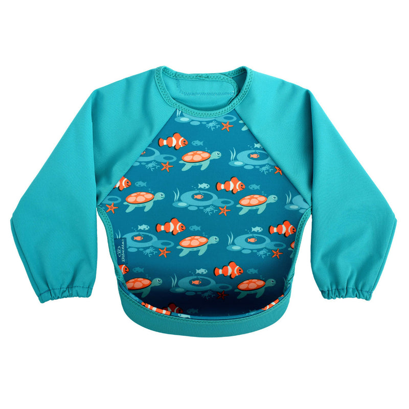 Bibetta Feeding Bib - UltraBib with Raglan Sleeves - Tropical Fish