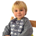 Bibetta Feeding Bib - UltraBib with Raglan Sleeves - Elephants