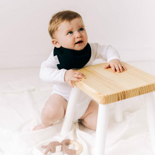 Babygrowie Bandana Black Dribble Bib - Organic Cotton