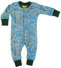 DUNS Blue Dill print Organic Cotton Zip Sleepsuit