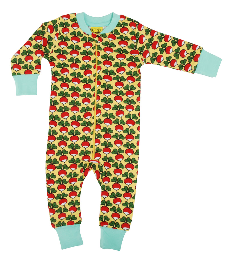 DUNS Radish - Aspen Gold - Organic Cotton Zip Sleepsuit