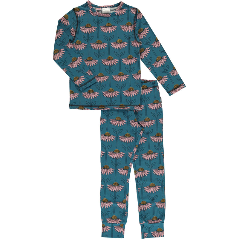Maxomorra Echinacea Print Long Sleeve Pyjamas Set