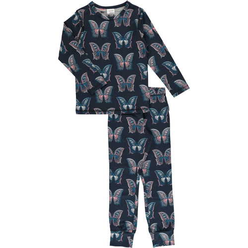 Maxomorra Butterfly Print Long Sleeve Pyjamas Set