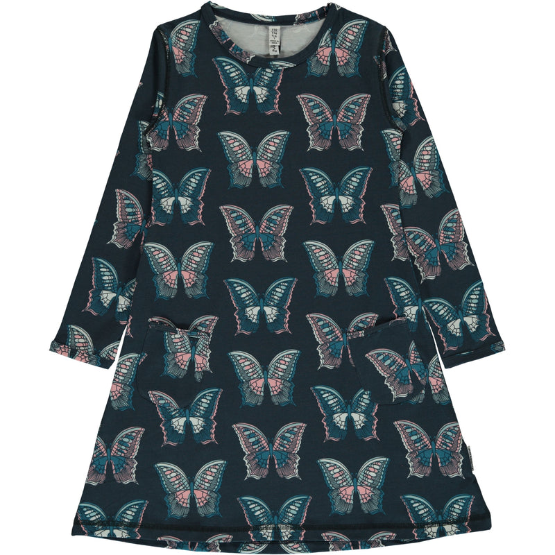 Maxomorra Butterfly Print Long Sleeve Dress