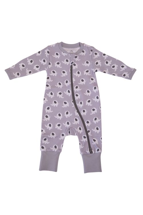 BABYBOO Ellie Elephant Organic Cotton ZIPPYBOO Sleepsuit