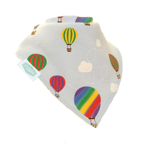 Ziggle Bandana Dribble Bib Hot Air Balloons Print