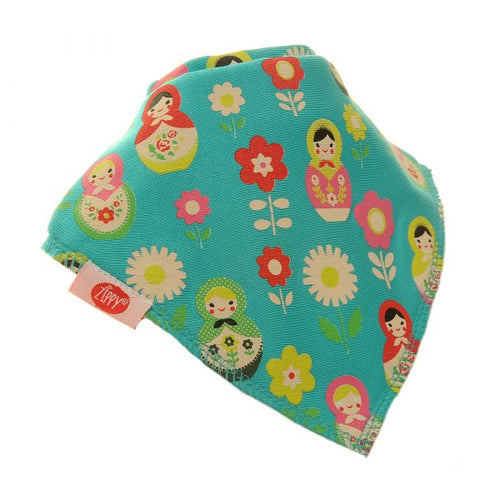 Zippy Baby Girl Bandana Dribble Bib Russian Dolls