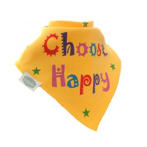 Ziggle Bandana Dribble Bib Choose Happy Slogan