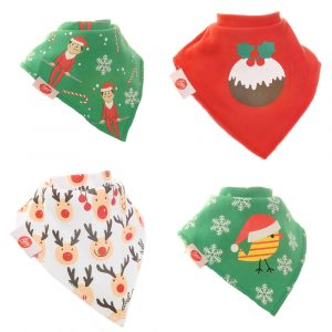 Zippy Baby Bandana Dribble Bib 4 pack Christmas Spirit