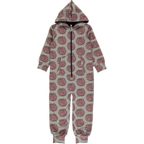 Maxomorra Rose Print Hooded Onesie