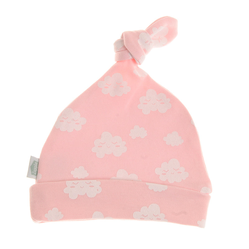 Ziggle Baby Cotton Rosie Cloud Print Knotted Hat