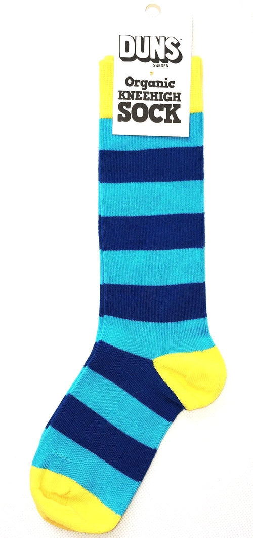 DUNS Knee High Striped Socks Blue