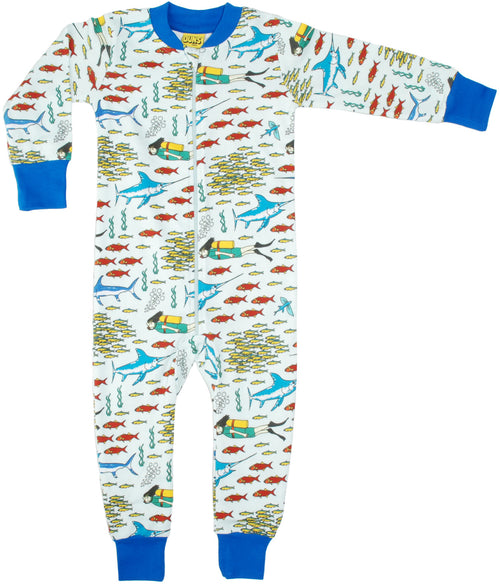 Water baby babygrow cool divers world print