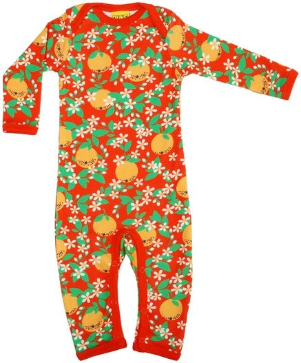 Summer Oranges Organic Cotton Romper