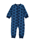 Blue Cars Long Sleeve Rompersuit/Sleepsuit Organic babygrow Maxomorra baby clothes