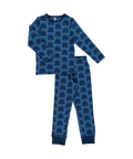 Organic Blue Cars Long Sleeve Pyjamas Set by Maxomorra