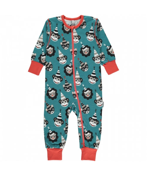 Maxomorra Limited Edition Party Zipper Romper Sleepsuit