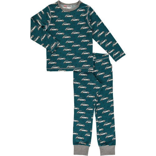 Maxomorra Classic Car Print Long Sleeve Pyjamas Set