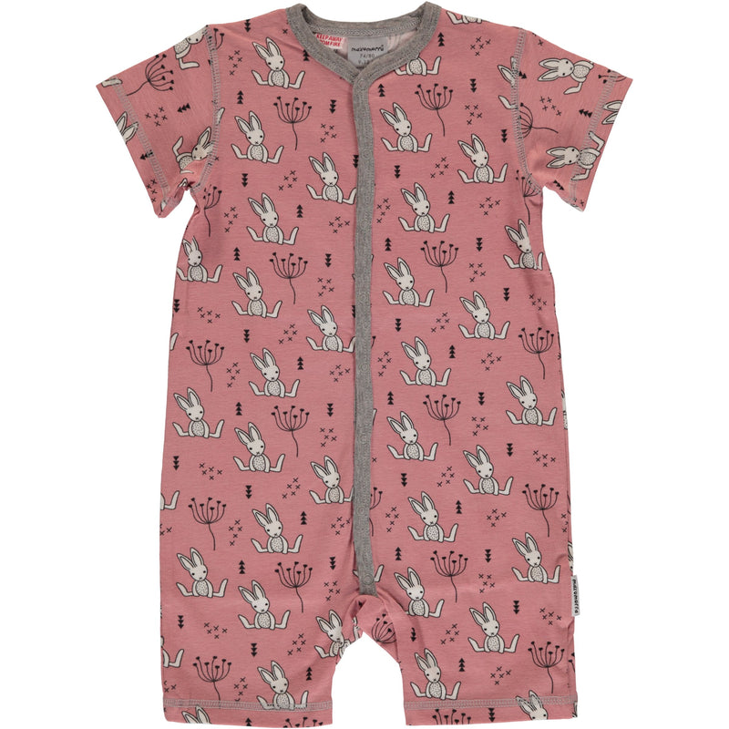 Maxomorra Short Sleeve Sweet Bunny Summer Romper