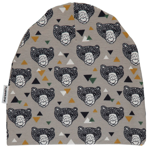 Maxomorra Grizzly Bear Print Organic Cotton Beanie Hat