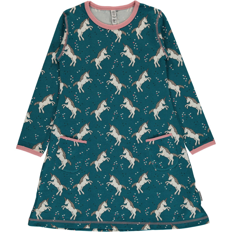 Maxomorra Unicorn Dreams Long Sleeve Dress