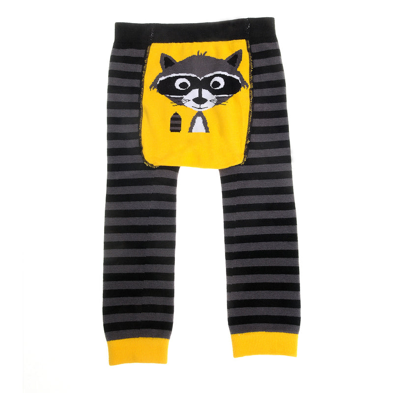 Ziggle Knitted Baby Leggings - Footless - Ricky the Raccoon by Stripey Cats