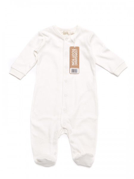 White Organic Babygrow from Little Green Radicals