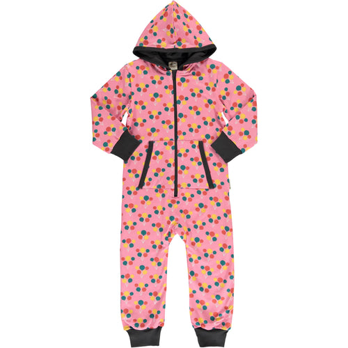 Maxomorra Balloon Party Print Hooded Onesie