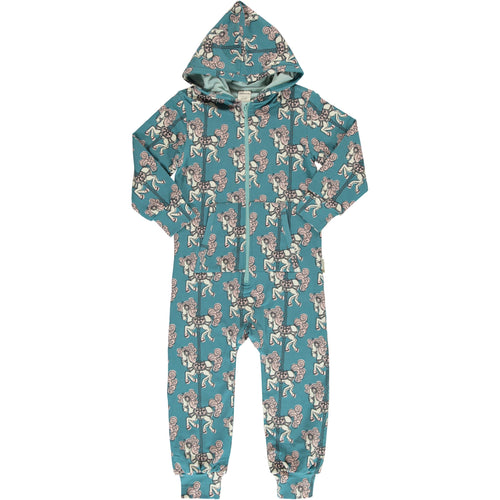 Maxomorra Merry Go Round Print Hooded Onesie