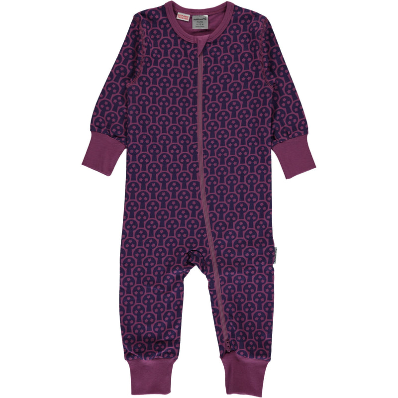 Maxomorra Tree Zipper Romper Sleepsuit