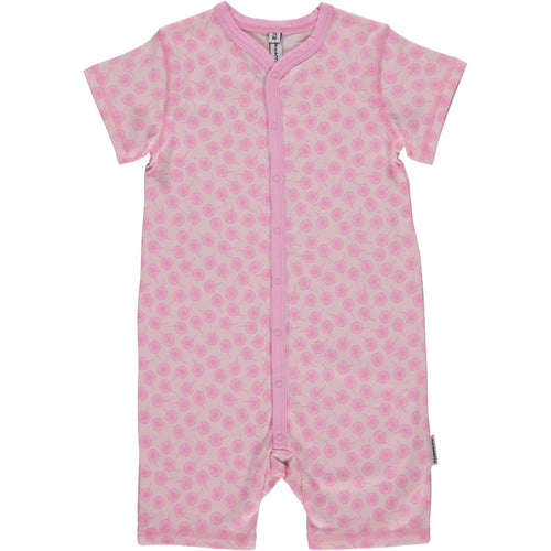 Maxomorra Short Sleeve Pink Meadow Summer Romper