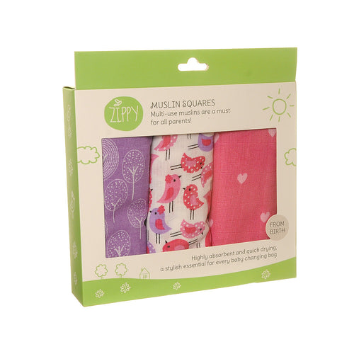 Girls Muslin Squares from Zippy - Colourful girls muslins
