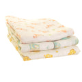 Zippy Baby Muslin Squares 3 Pack Cute Cuddly Animals