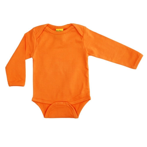 Long Sleeve Orange Organic Cotton Bodysuit