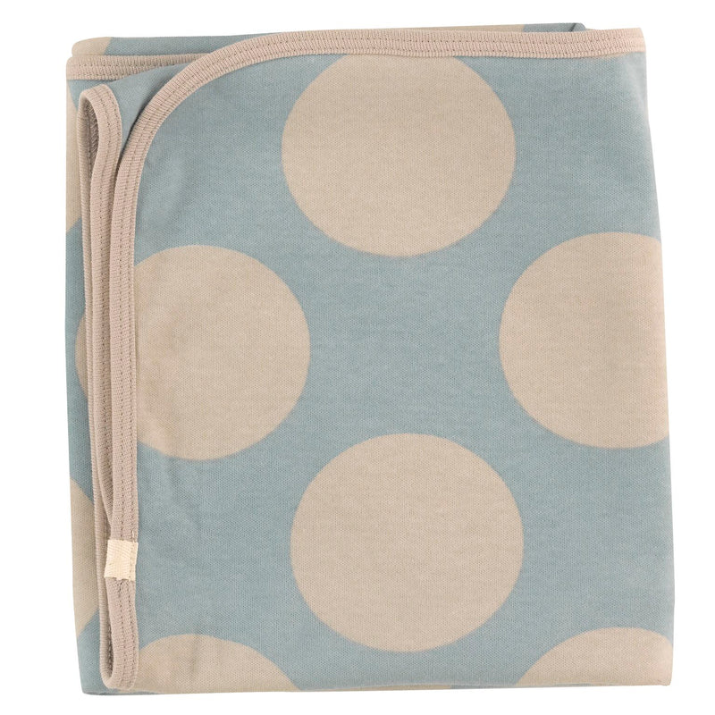 Organic Cotton Giant Spot Print Blue Surf Blanket