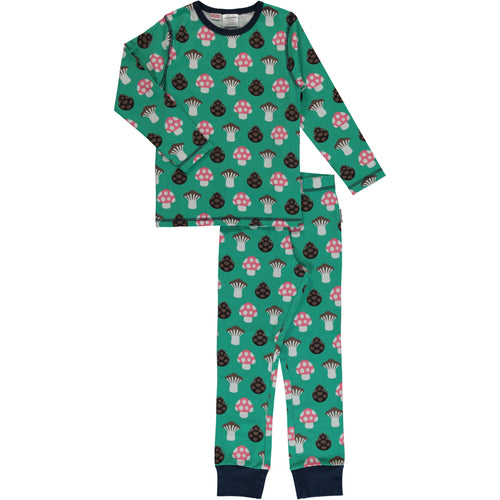 Maxomorra Mushroom Print Long Sleeve Pyjamas Set
