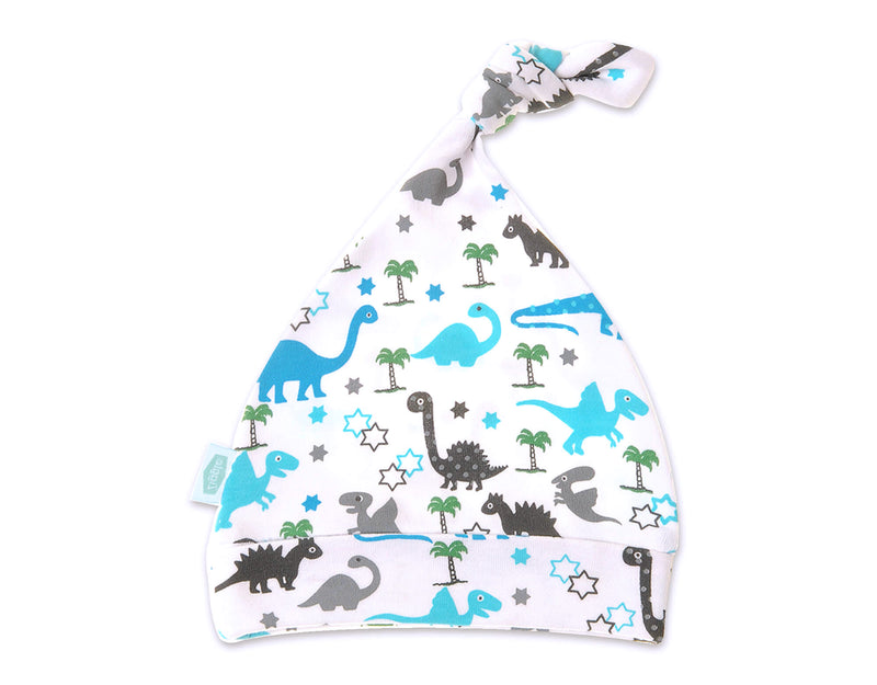 Ziggle Uptown Dinosaur Print Baby Cotton Knotted Hat