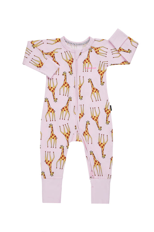 BONDS Gerald Giraffe Pink  Wondersuit