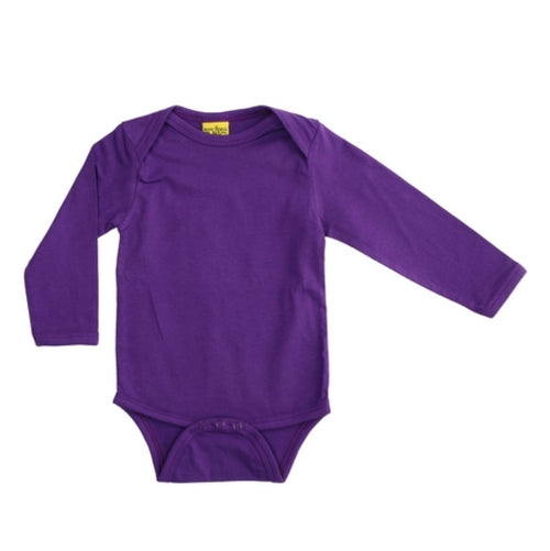 Long Sleeve Purple Organic Cotton Bodysuit