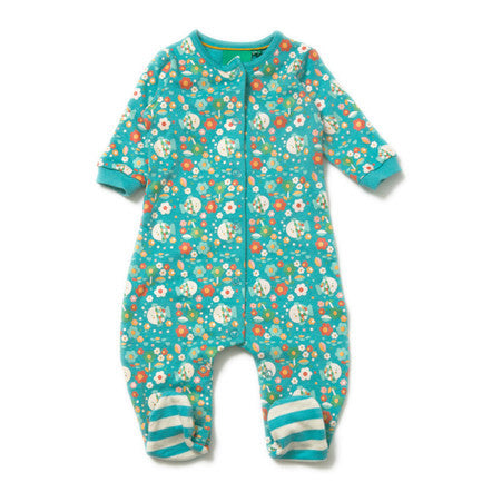 Into the Shallows Babygrow from Little Green Radicals Organic Vintage babygrow