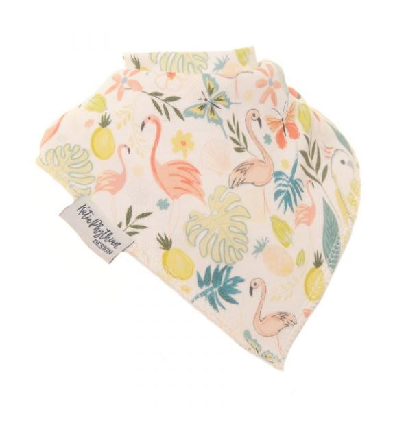 Ziggle Bandana Dribble Bib Tropical by Katie Phythian