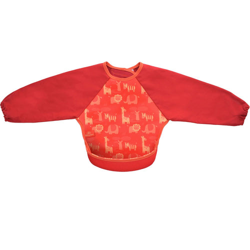 Bibetta Feeding Bib with Raglan Sleeves - Safari Print