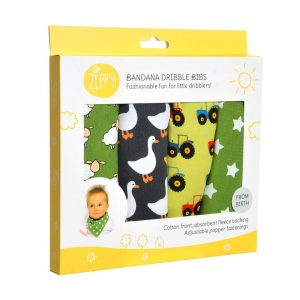 Zippy Baby Bandana Dribble Bib Farm 4 pack