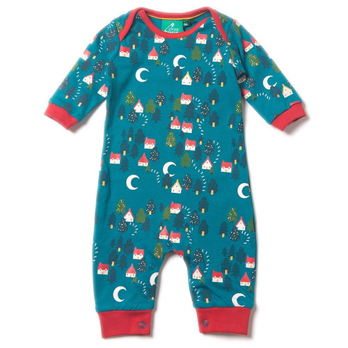 Forest Footprint Organic Cotton Romper Playsuit